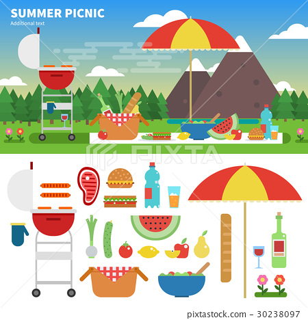 Summer picnic in the mountains 30238097