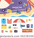 Kit for tropical trip on sand 30238100