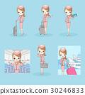 cartoon flight attendant 30246833