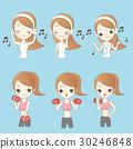 Cartoon beautiful young woman 30246848
