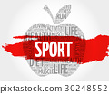 Sport apple word cloud 30248552