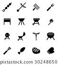 icon, barbecue, grill 30248650