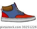 vector modern red sneakers 30251226