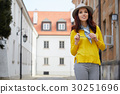 fashion portrait of pretty stylish laughing woman 30251696