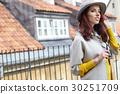 fashion portrait of pretty stylish laughing woman 30251709