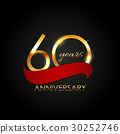 Template 60 Years Anniversary Vector Illustration 30252746