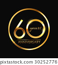 Template 60 Years Anniversary Vector Illustration 30252776