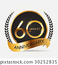 Template 60 Years Anniversary Vector Illustration 30252835