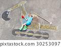 boy, chalk, excavator 30253097