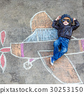 Little boy having fun with airplane picture 30253150