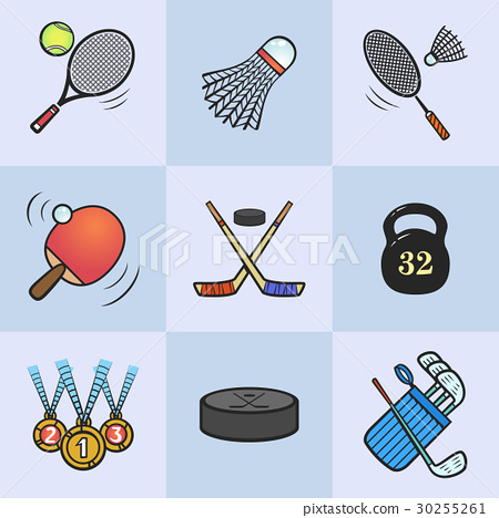 Collection of sport icons. 30255261