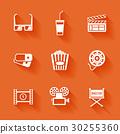 icon, movie, set 30255360