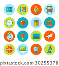 Set of school and education icons. 30255378
