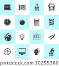 Set of school and education icons. 30255380