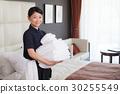 침대 메이킹 여성 30255549