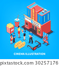 Cinematography Isometric Design Concept  30257176