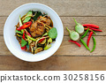 Spicy fried stir catfish  with chilli paste 30258156