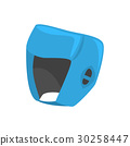 Blue boxing helmet to protect the head. Colorful 30258447