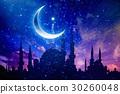 Ramadan Kareem background, crescent and stars 30260048