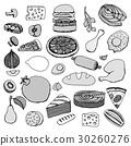 食物 食品 矢量 30260276
