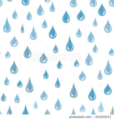 Raindrop background Rainstorm Pattern. Water drops 30260641