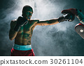 Afro american male boxer. 30261104