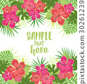 Background with tropical flowers 30261239