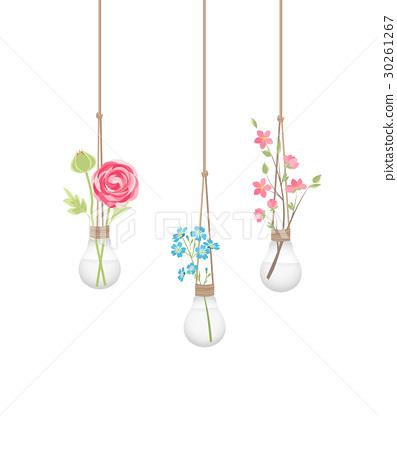 Flower in a light bulb 30261267