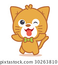 Happy cat style character 30263810