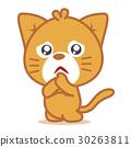 Sad cat pets of character 30263811