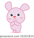 Sad bunny cartoon character collection 30263834