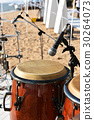 Bongo drum with microphone,close up 30264073