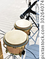 Drums instrument with microphone on stage,close up 30264074