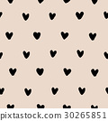 Hand drawn hearts seamless pattern vector 30265851