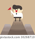 businessman, high, mountain 30268710