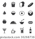 Food and Drink icons set 30268736