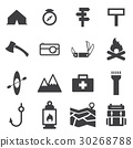 camp icon set 30268788