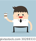 Businessman holding coffee 30269333