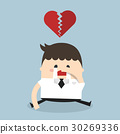 Businessman broken heart, heartbreak 30269336
