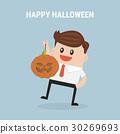 businessman happy Halloween. 30269693