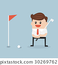 Businessman play golf. 30269762