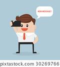 businessman reading new message 30269766