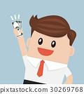 Businessman hold money 30269768