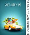 summer travel illustration 30270115