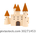 Cartoon medieval castle isolated  30271453