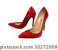 Female red high-heeled shoes  30272008