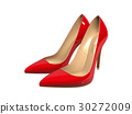 Female red high-heeled shoes  30272009