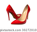 Female red high-heeled shoes  30272010