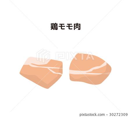 chicken leg, chicken, foodstuff - Stock Illustration [30272309] - PIXTA