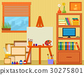 home art studio with easel and painting tools 30275801